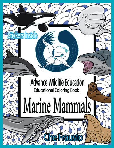 .Marine Mammals Educational Coloring Book