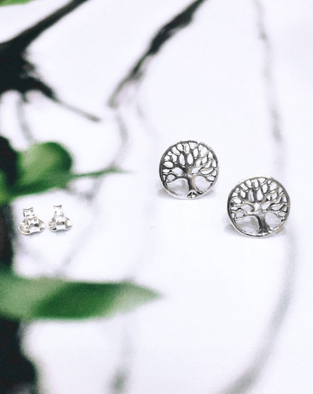 Tree of Life Disc Studs