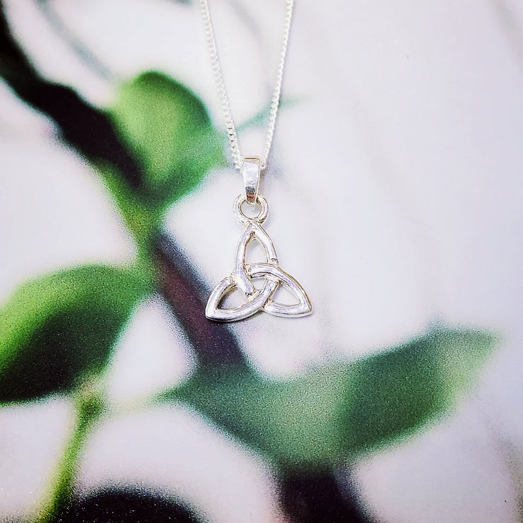 Sterling Silver Small Trinity Knot Pendant