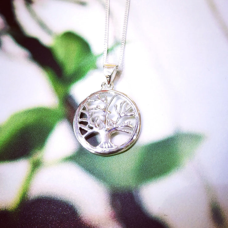 Sterling Silver Tree of Life in Circle Pendant
