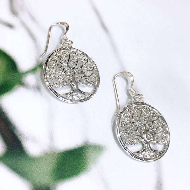Tree of Life Spiral Earrings