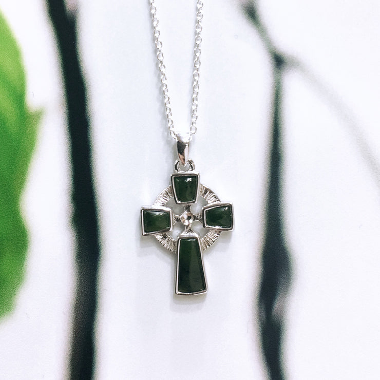 Sterling Silver Connemara Celtic Round Cross