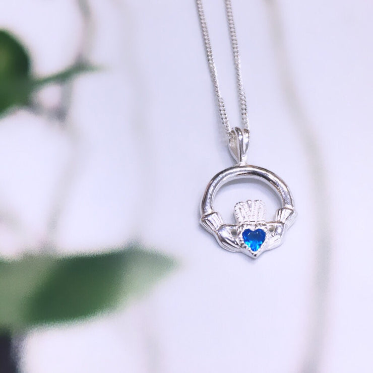 December (Blue Topaz Zircon) Birthstone Pendant
