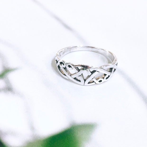 Sterling Silver Knotwork Ring