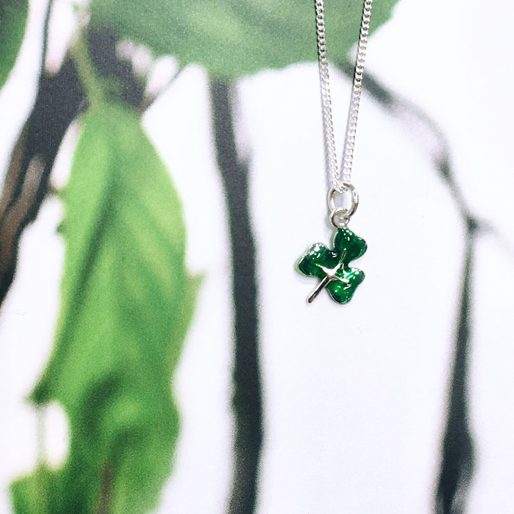 Sterling Silver Shamrock with Enamel