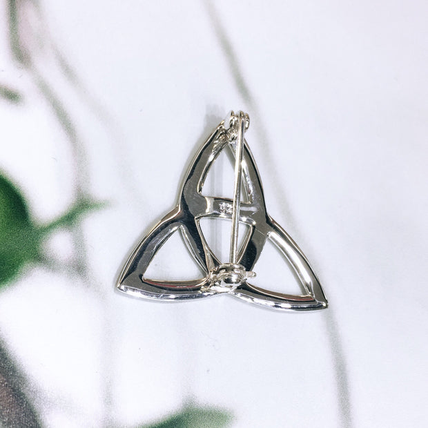 Sterling Silver Trinity Knot Brooch
