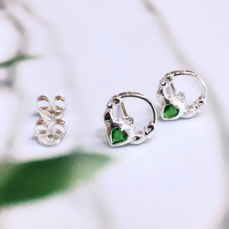 May (Emerald Zircon) Birthstone Studs
