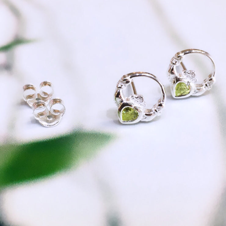 August (Peridot Zircon) Birthstone Studs