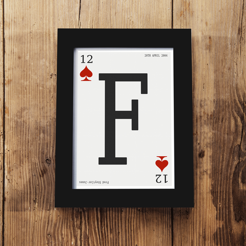 Personalised Playing Card Framed A5 Print
