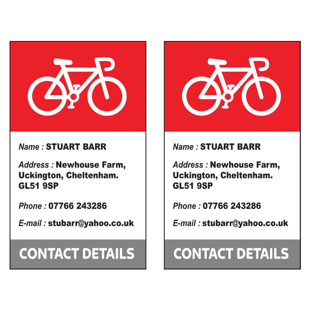 Spin collective pro bike box contact stickers