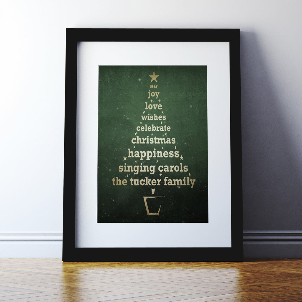 Personalised Christmas Tree Print