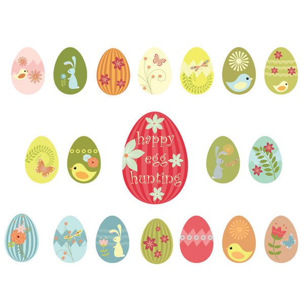 Fabric Easter Egg Wall Stickers