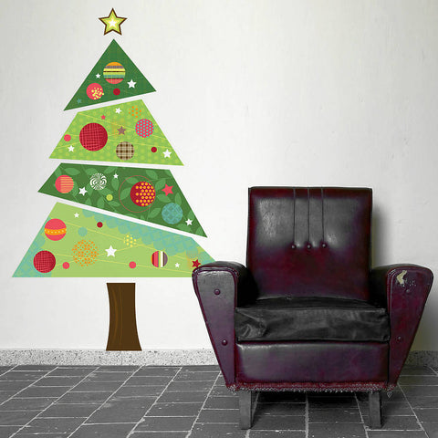 Fabric Christmas Tree Wall Sticker