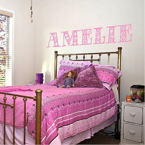 Personalised Girl's Name Wall Sticker