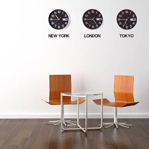 Time Zone Cities Wall Stickers