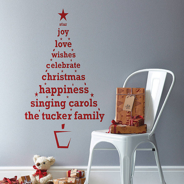 Personalised Christmas Tree Wall Sticker