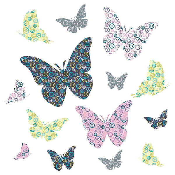Patterned Butterfly Wall Stickers