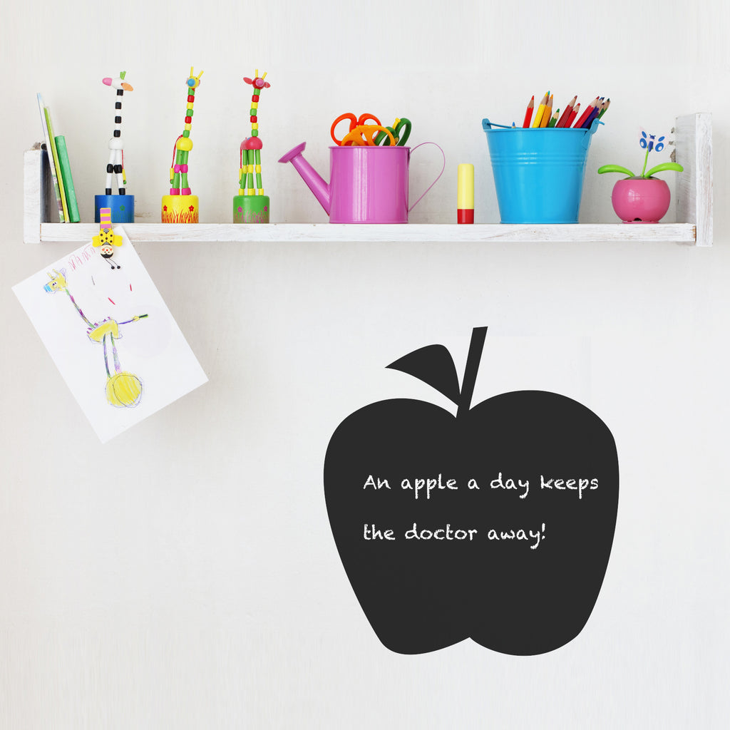 spin collective uk wall stickers and personalised art prints apple chalkboard wall sticker