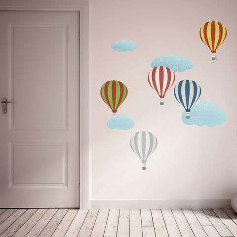 Fabric Hot Air Balloon Wall Stickers