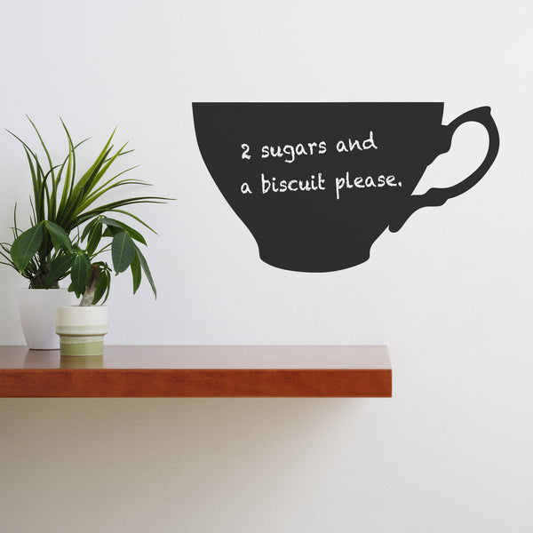 Teacup Chalkboard Wall Sticker