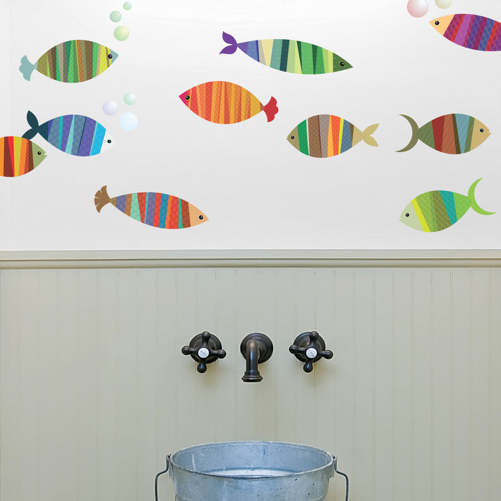 Patterned Fish Wall Stickers