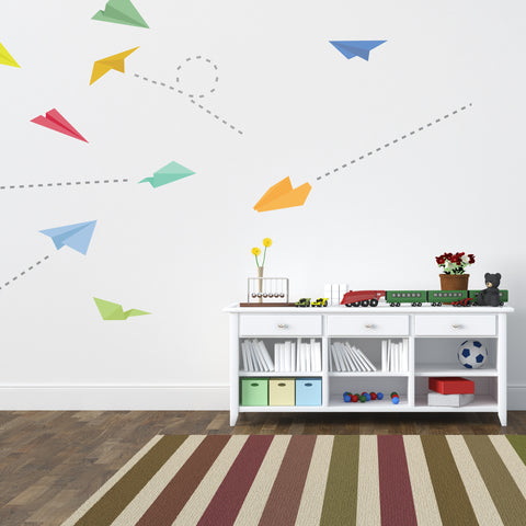 Paper Plane Wall Stickers