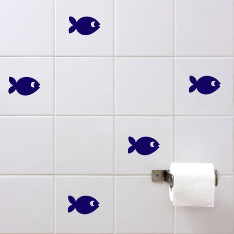 Fish Wall Tile Sticker Set