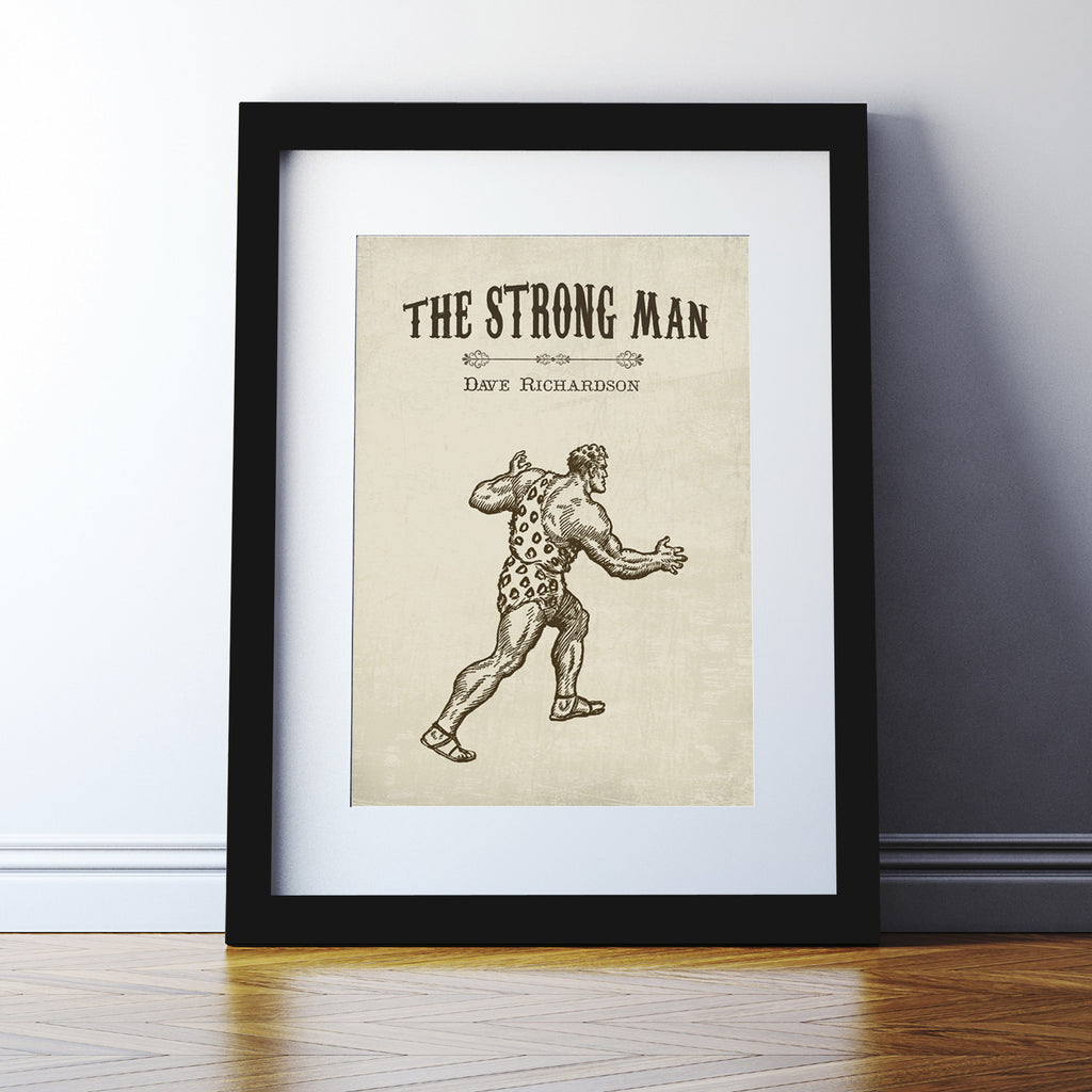 Personalised 'Strong Man' Print