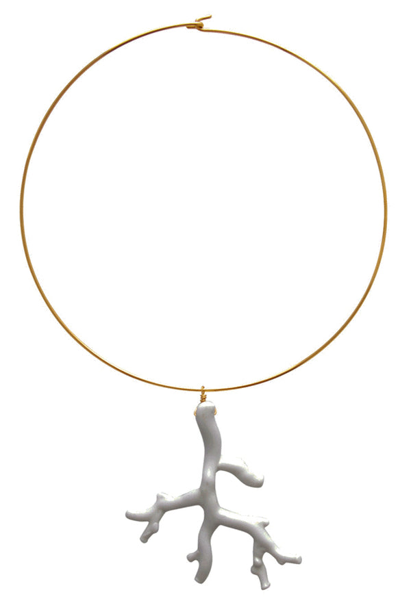KENNETH JAY LANE White Branch Necklace