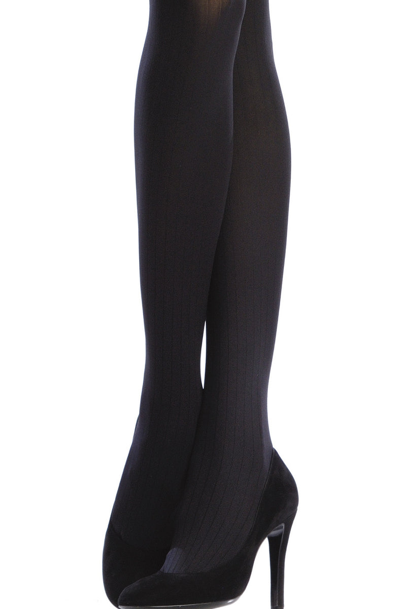 EMILIO CAVALLINI OPAQUE 3 Tights VERTICAL STRIPES 100D Brown Wood