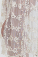 ZARIANA White Lace Kaftan Dress