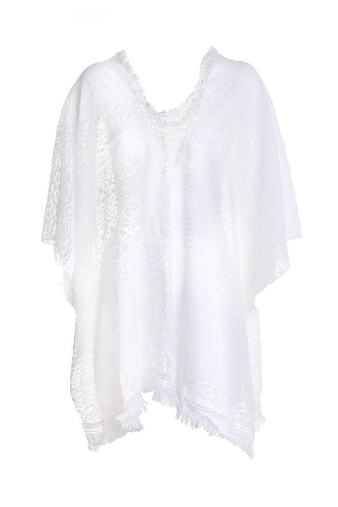 Carly Caftan with Lace and Fringes