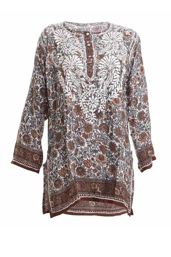 Emelia Brown Tunic Caftan