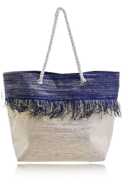 KARINIA Blue Woven Bag Beach Bags