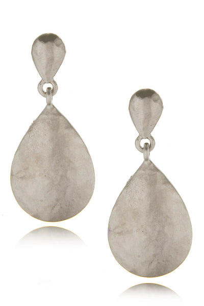 KENNETH JAY LANE TEARDROP Silver Earrings