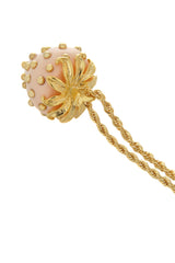 KENNETH JAY LANE STRAWBERRY Light Pink Pendant