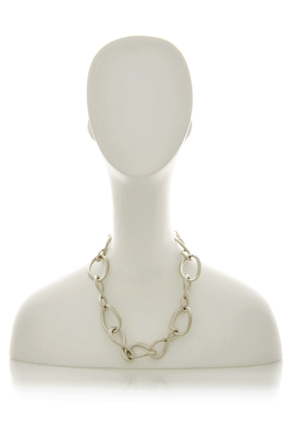 KENNETH JAY LANE SATIN Silver Chain Necklace