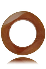 KENNETH JAY LANE BROWN AGATE Round Bangle