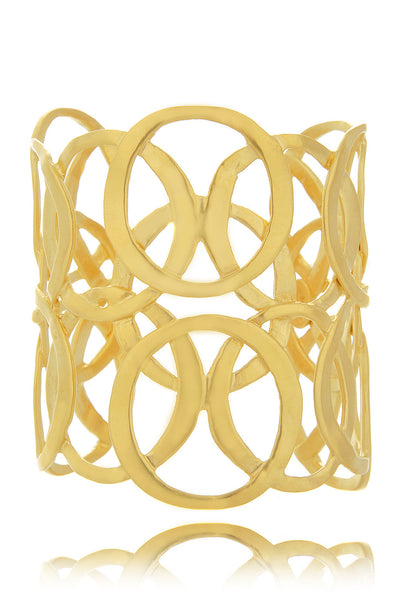 KENNETH JAY LANE CIRCLES Satin Gold Cuff