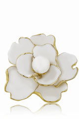 KENNETH JAY LANE CAMELIA White Flower Ring