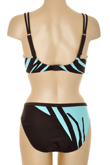 GOTTEX Brown Turquoise Printed Underwired Bikini
