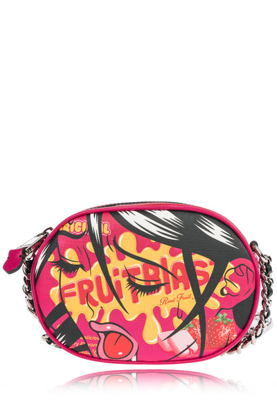 MOSCHINO FRUITBLAST Pink Crossbody Bag