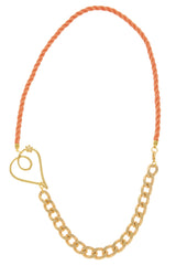 ALBERTO GALLETI CUORE Orange Chain Necklace