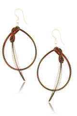 AGATHA TERRELL - ANNETTE Braided Bamboo Earrings - Jewelry