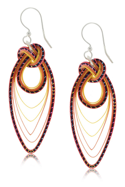 AGATHA TERRELL - CELESTYN Coral Bamboo Earrings - Jewelry
