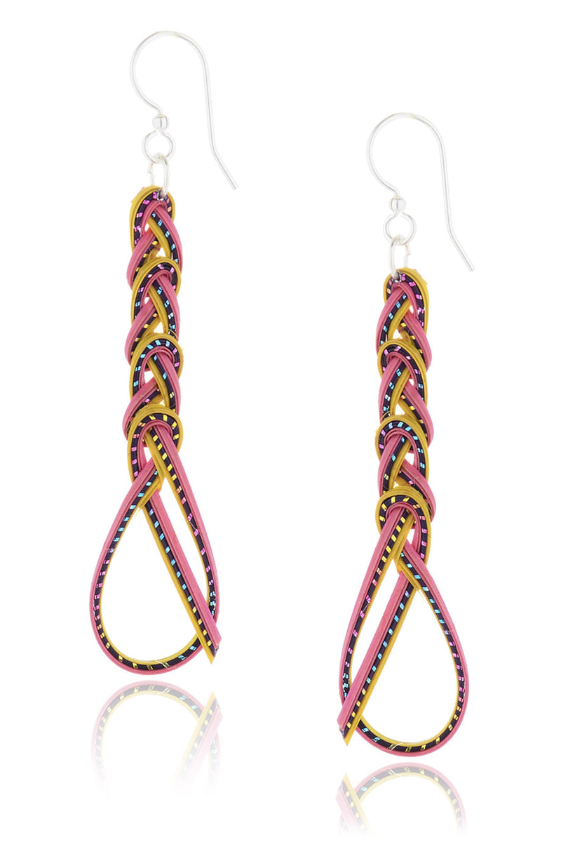 AGATHA TERRELL - ERNALINE Bamboo Braided Earrings - Jewelry