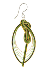 AGATHA TERRELL - FELICITY Green Braided Bamboo Earrings - Jewelry