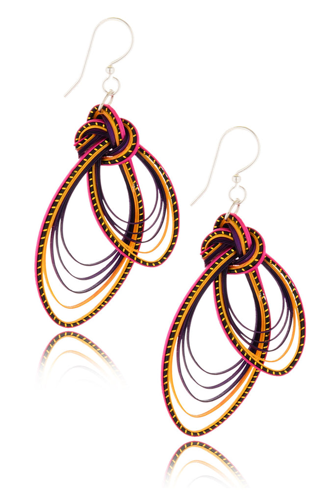 AGATHA TERRELL - JANELLA Braided Bamboo Earrings