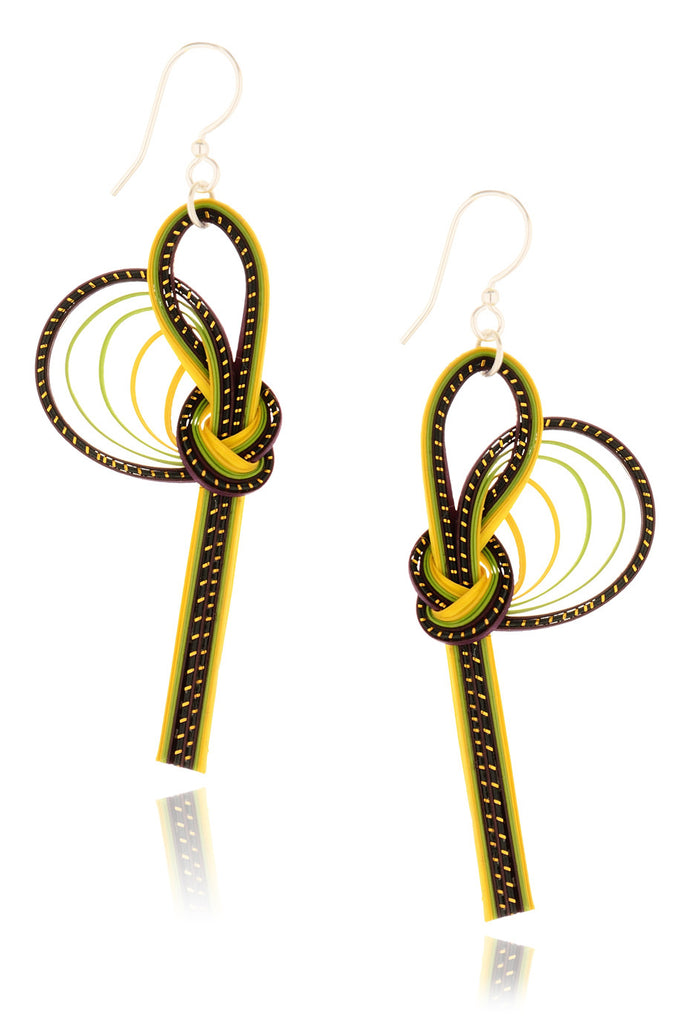 AGATHA TERRELL LUCINDA Braided Bamboo Earrings