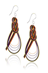 AGATHA TERRELL - MABEL Multicolor Braided Bamboo Earrings - Jewelry